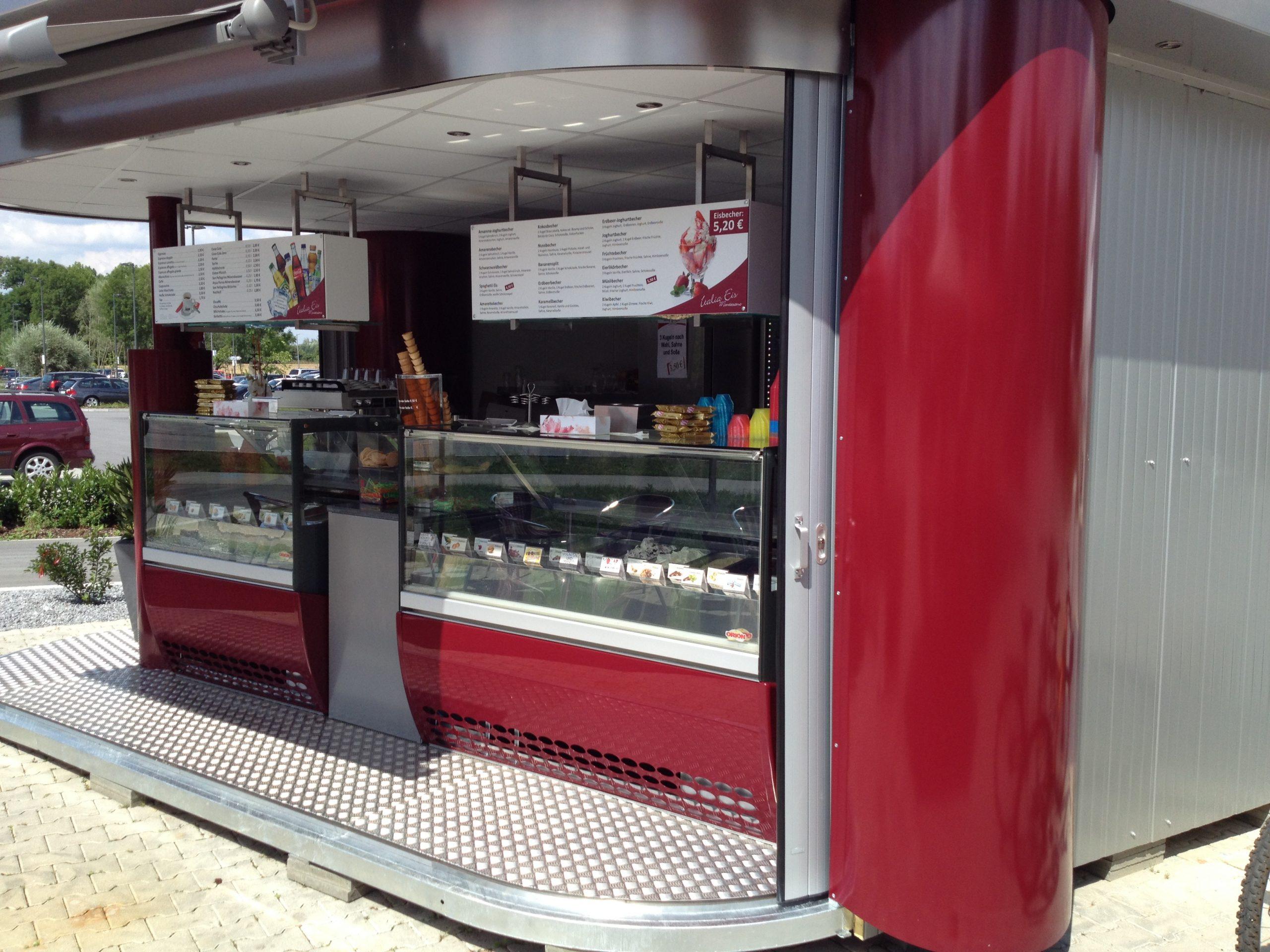 Eis Stand Kiosk Pavillon Verkaufsstand Ice cream