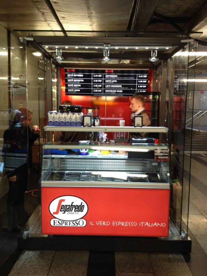 Glas Cube Kiosk Verkaufsstand Kaffee Kaffeebar