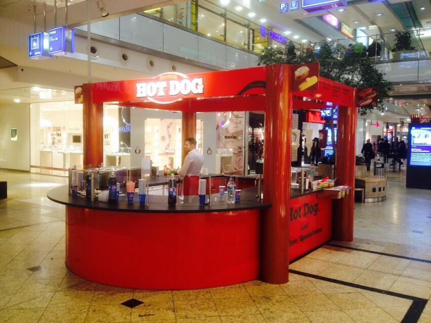 Verkaufsstand Mall Verkaufskiosk Foodcontainer Indoor Pavillon Kiosk