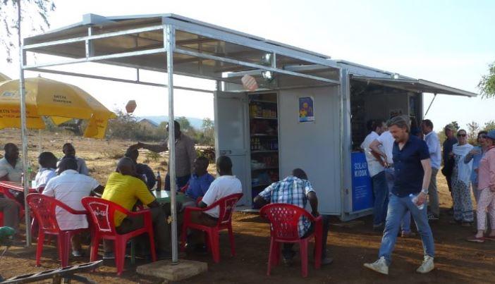 Solar Verkaufskiosk Container Foodcontainer Imbissstand Imbiss Grillstand Snack Kiosk