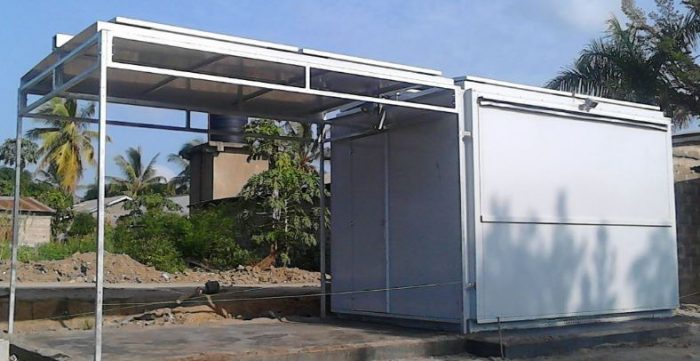 Solar Verkaufskiosk Container Foodcontainer Imbissstand Imbiss Grillstand Snack Kiosk