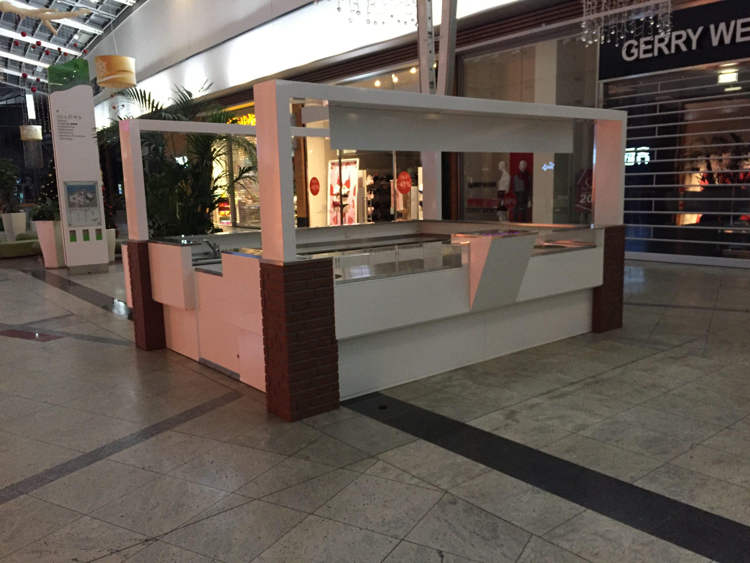 Verkaufsstand Mall Verkaufskiosk Indoor Pavillon Kiosk