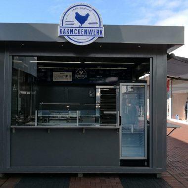 Verkaufskiosk Container Foodcontainer Imbissstand Imbiss Grillstand Hähnchen Stand Broiler
