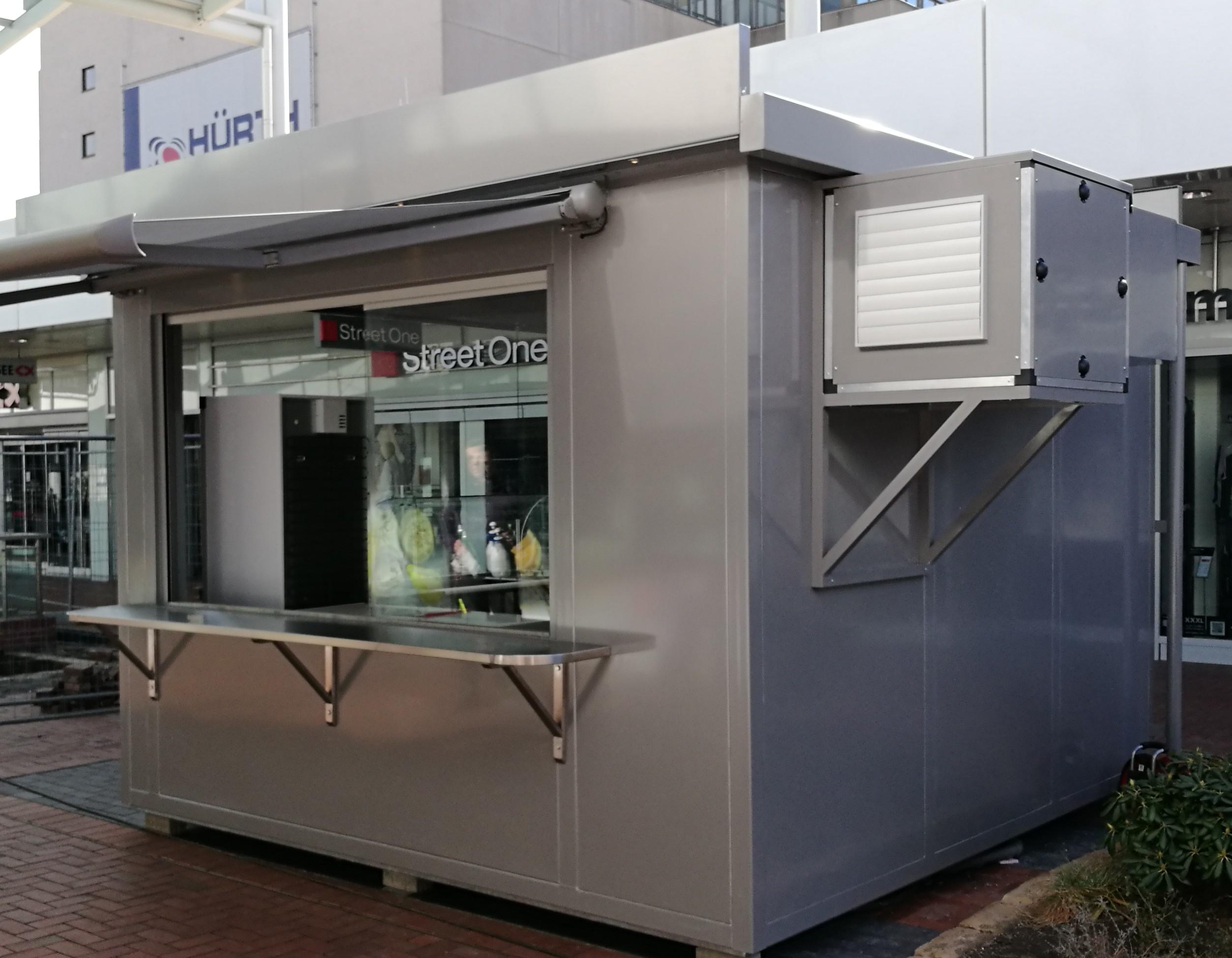 Verkaufskiosk Container Foodcontainer Imbissstand Imbiss