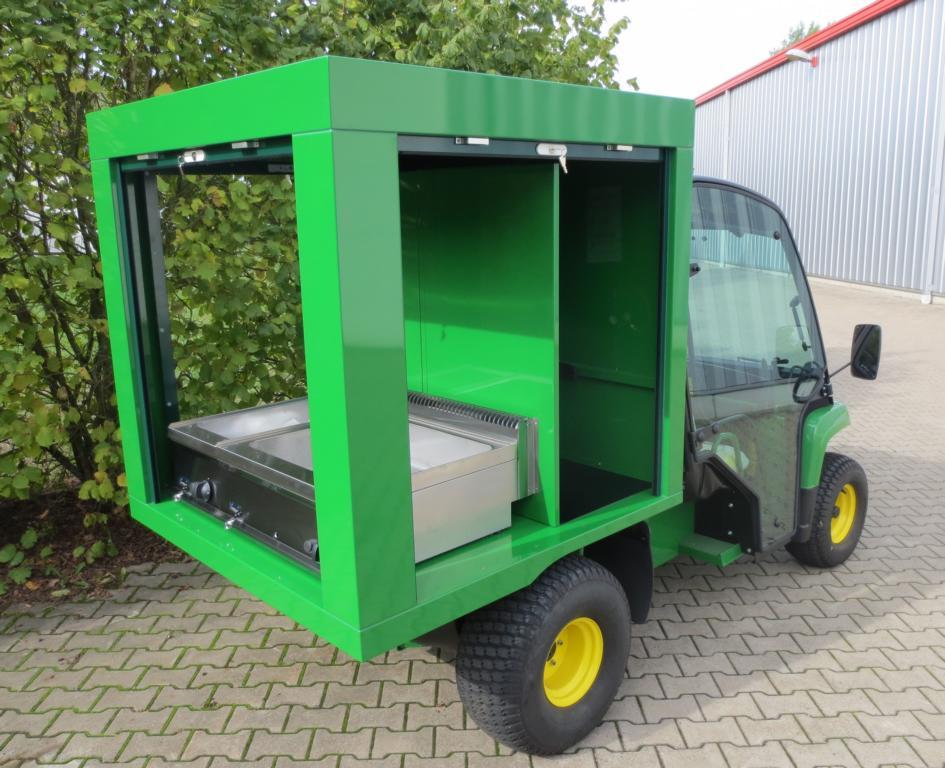 Elektro Verkaufsmobil Grüner Verkaufswagen Offroad-Verkaufswagen, Strand-Verkaufswagen