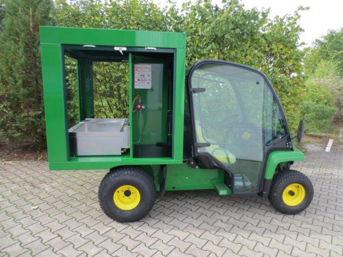 Grüner Verkaufswagen Offroad-Verkaufswagen, Strand-Verkaufswagen Elektro Verkaufsmobil