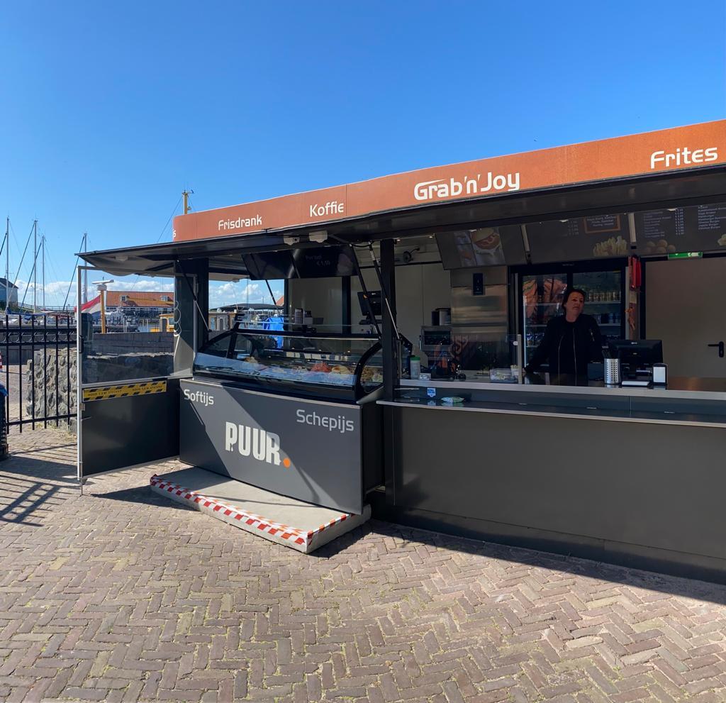 Eis Theke Container Kiosk Eisladen Pavillon Verkaufscontainer Imbisscontainer
