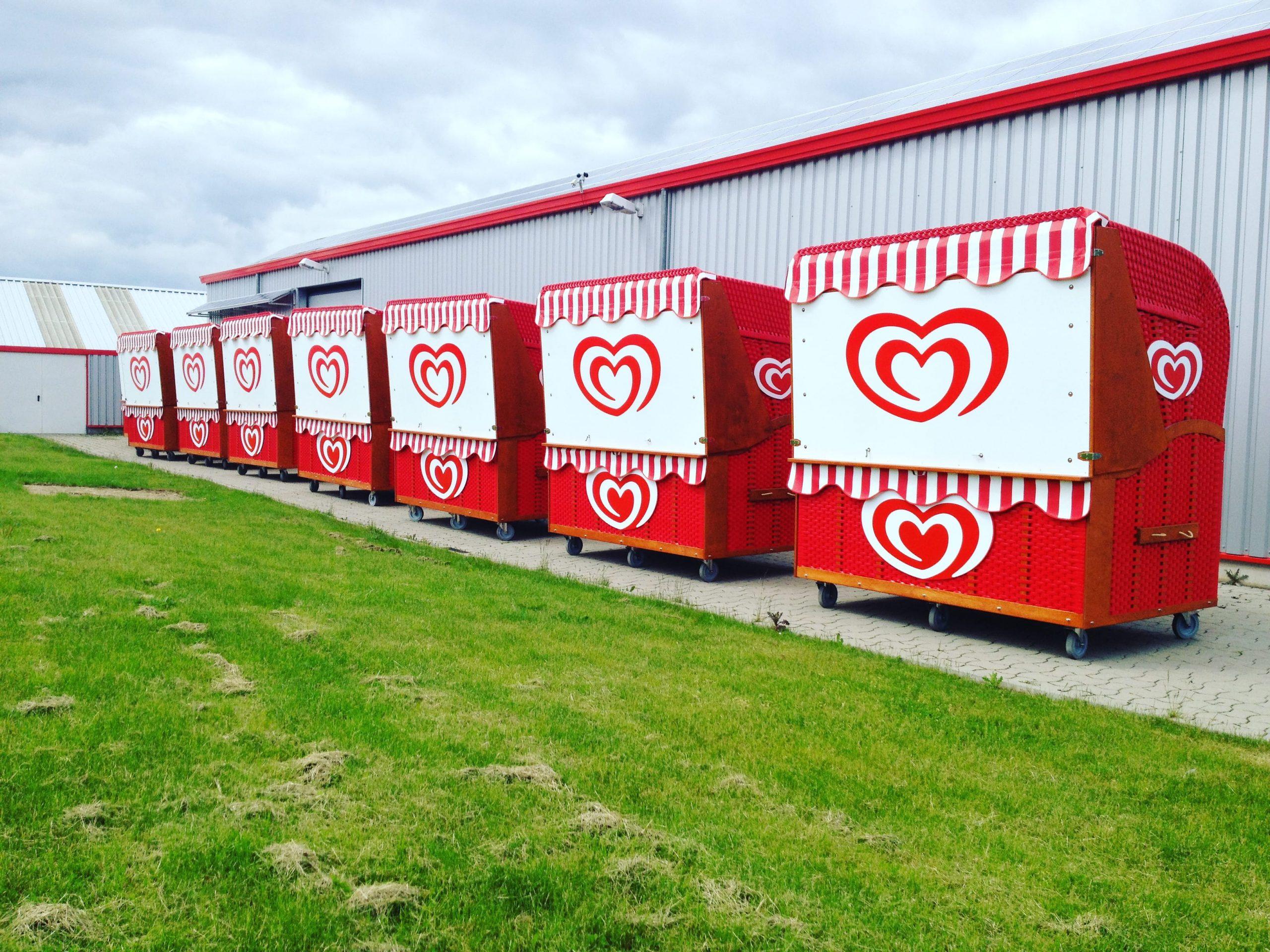 Verkaufskiosk Strandkorb Outdoor Verkaufsstand Imbiss Container Eis Kiosk