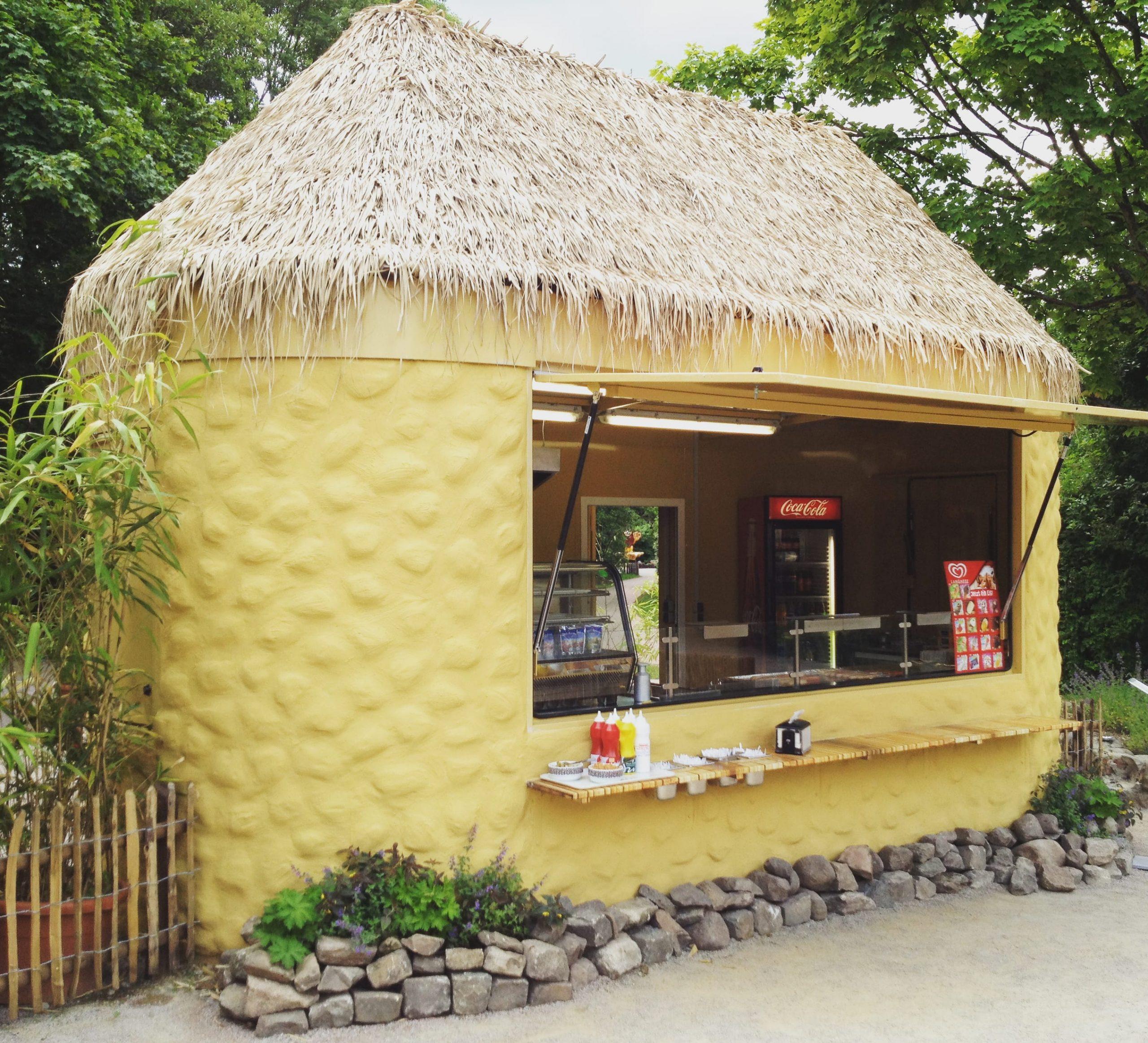 Kiosk Pavillon Imbiss Verkaufsstand Bäcker Brötchen Grill Snack