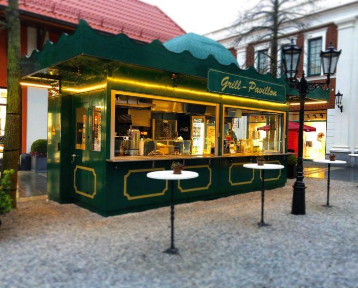 Verkaufsstand Verkaufskiosk Foodcontainer Pavillon Kiosk Imbissstand Imbiss Grillstation Grillstand