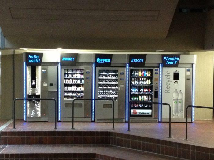 Automatenverkleidung mit Beleuchtung